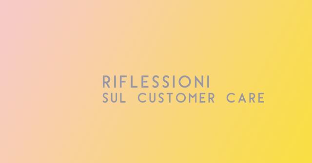 Customer care e il vantaggio dei piccoli brand