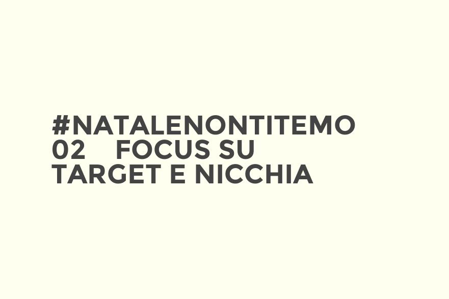 #NataleNonTiTemo 02 - Focus su target e nicchia